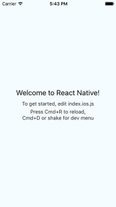 welcome to react native