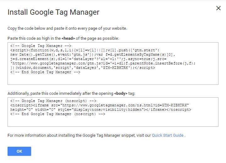 کپی کد گوگل تگ منیجر در سایت